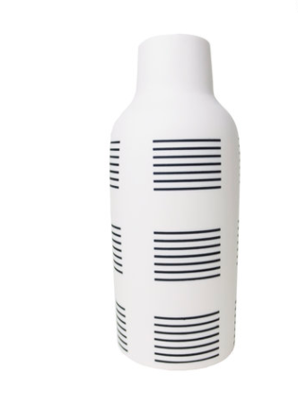 Black and White Bottle Vase