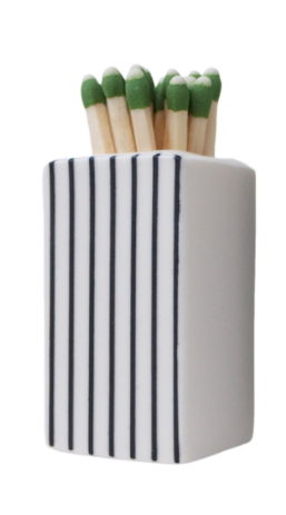 Small White Ceramic Matchbox