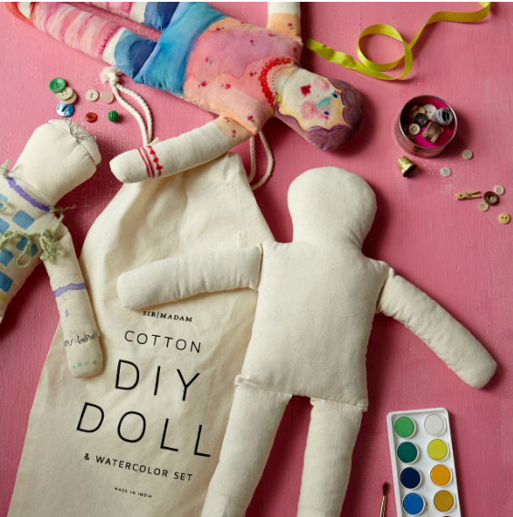 Doll & Watercolor Set