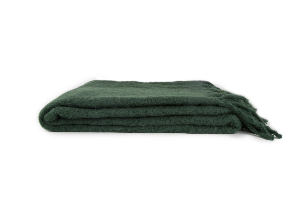 Pine Mohair Throw