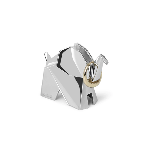 Origami Chrome Ring Holders (Set of 3)