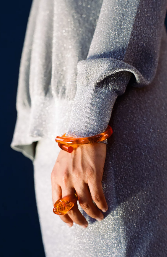 Amber Orange Rod Bangle