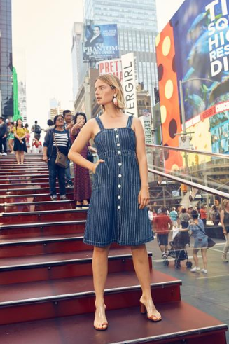 Denim Stripe Alma Dress
