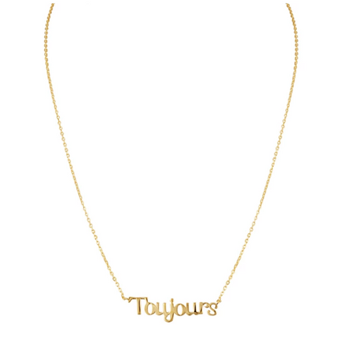 Toujours 14k Gold Necklace