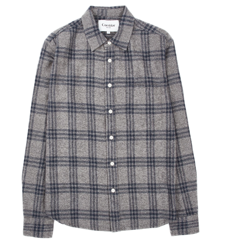 Grey Check Flannel LS