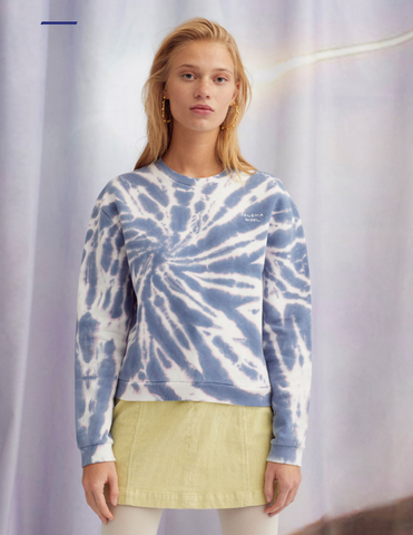 Paloma Wool AW19 Tie Dye Embroidered Women's Sweatshirt made in Barcelona