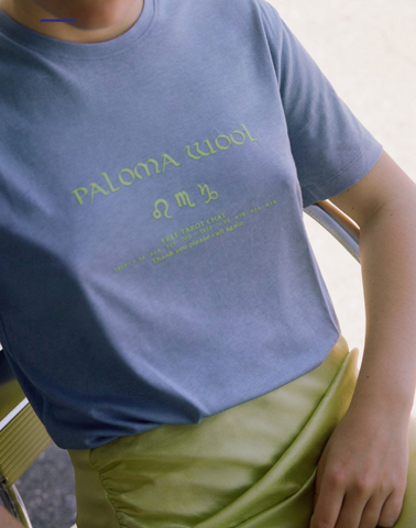 Paloma Wool AW19 Crop Tarot Print Glow in the Dark Made in Barcelona