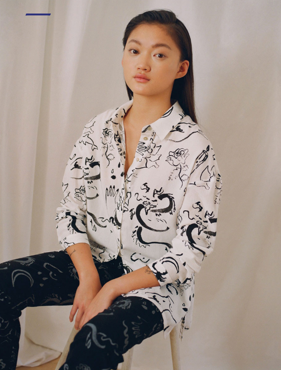 Paloma Wool AW19 Dragon Print Oversize Button Up Made in Barcelona