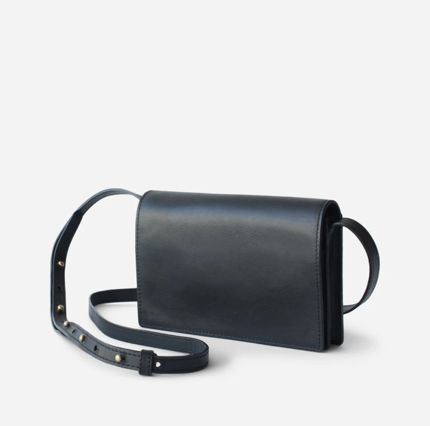 Black Booklet Crossbody