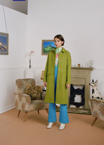 Lagone Lime Wool Coat