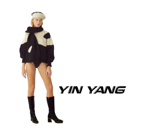 Black Ying Yang Sweater