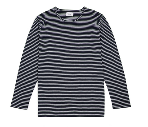 Finham LS T-Shirt White/Navy