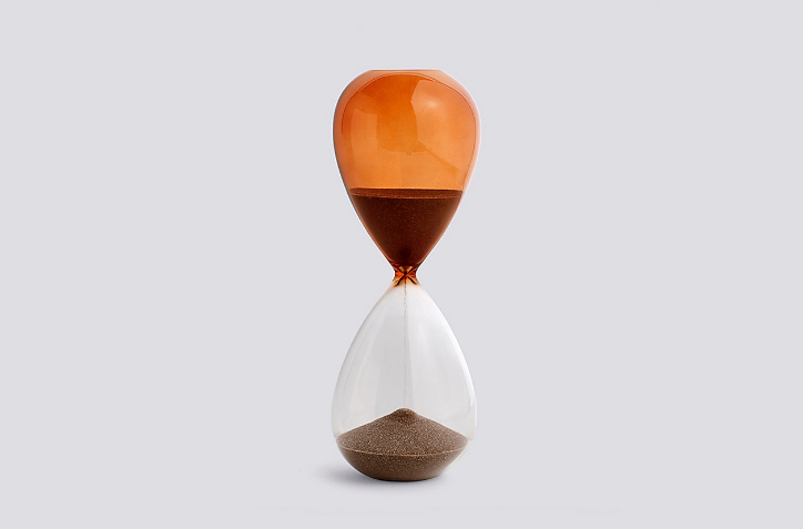Large Burnt Orange Time Hourglass