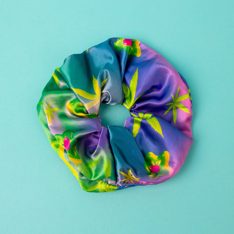 Silk Cannabis Scrunchies