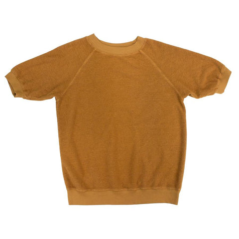 Copper Short Sleeve Raglan Sherpa Sweatshirt