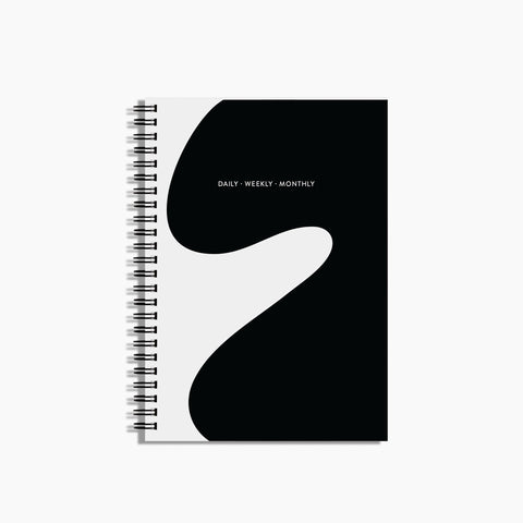 Daily Weekly Monthly Small Planner in Curves