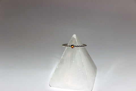 Citrine Stoned Stacking Ring