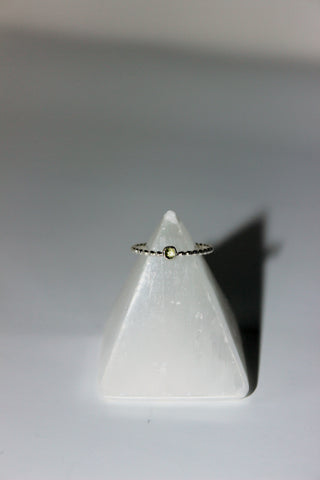 Peridot Stoned Stacking Ring