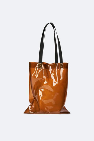 Shiny Amber Transparent Shopper