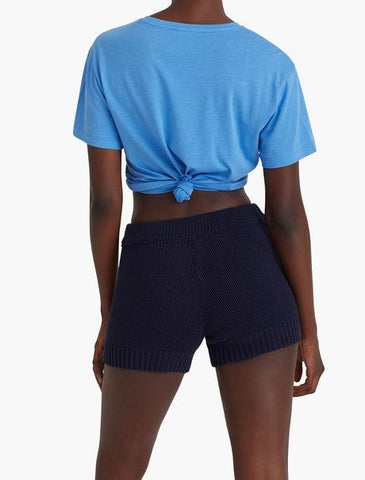 Navy Zubat Knit Shorts