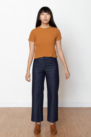 Toffee Waffle Cropped Tee