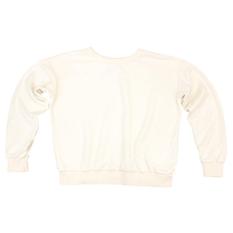 Washed White Yakama Cropped Sweatshirt