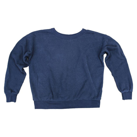 Navy Yakama Cropped Sweatshirt
