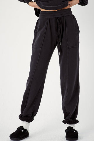 Black Recycled Cotton Adventure Jogger