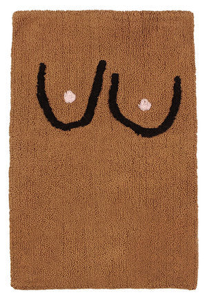 Boob Bathmat Brown