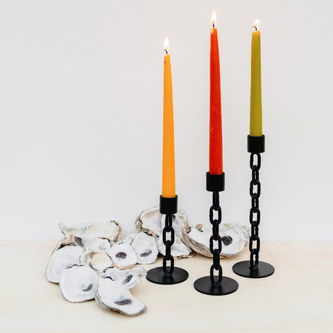 Black Chain Candlestick Holder
