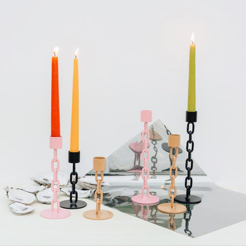 Citrin Chain Candlestick Holder