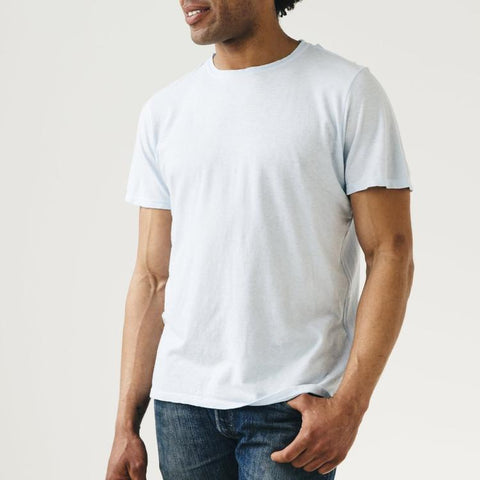 Washed White Basic Tee