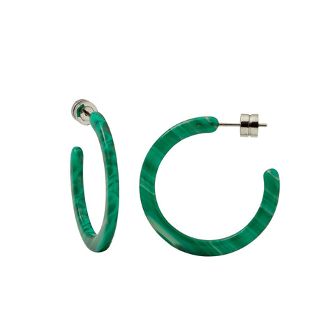 Malachite Mini Hoops