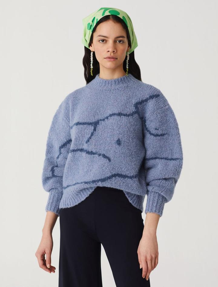 Blue Palmira Sweater