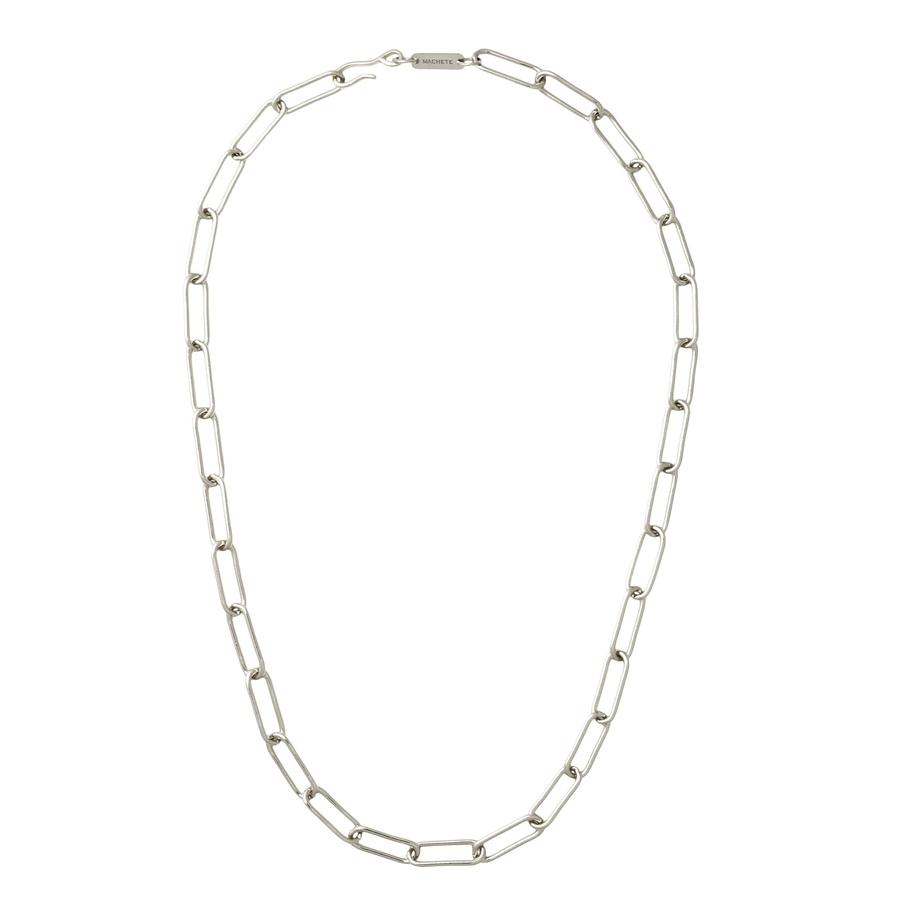 Paperclip Chain Necklace in Silver