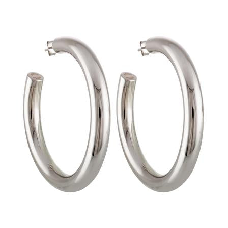 Silver Perfect Hoops