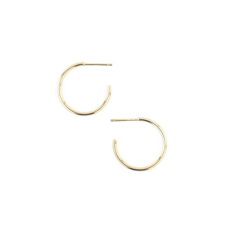 Gold Small Leen Hoops