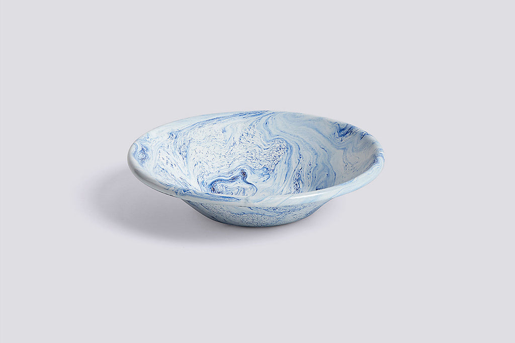 Soft Ice Blue Enamel Bowl