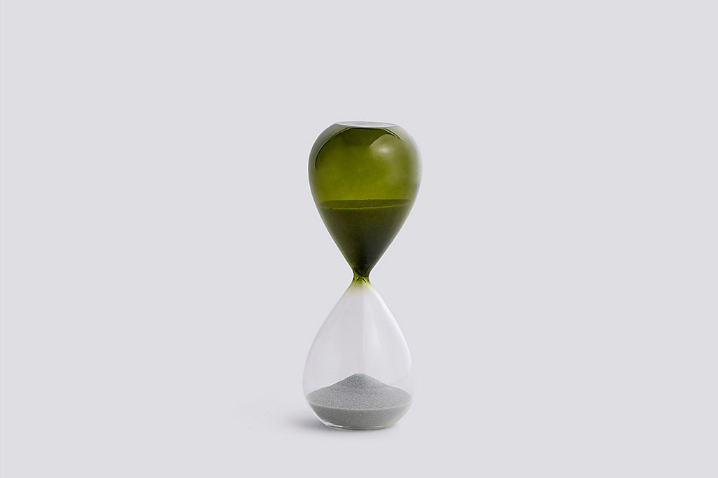 Grass Green Time Hourglass