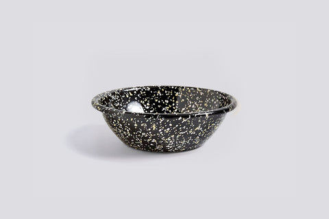 Sprinkle Black Enamel Bowl