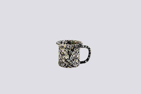 Speckle Black Enamel Mug