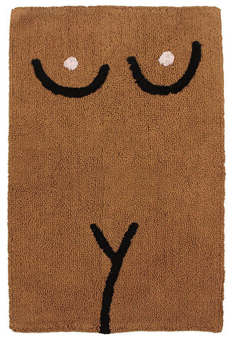 Brown Torso Bathmat