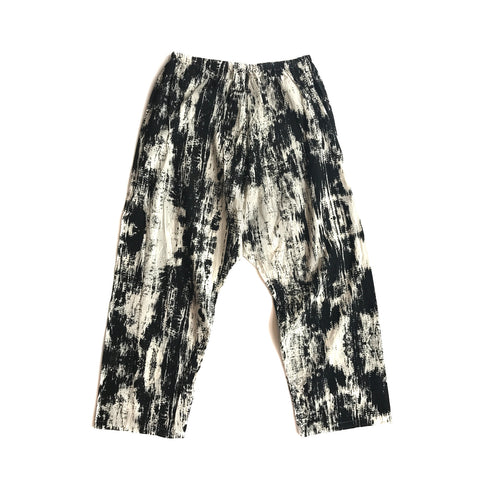 Bark Print Cotton Pants