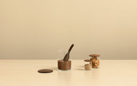 Walnut Simple Storage Containers