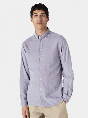 Bampton Tencel Shirt Purple Ash