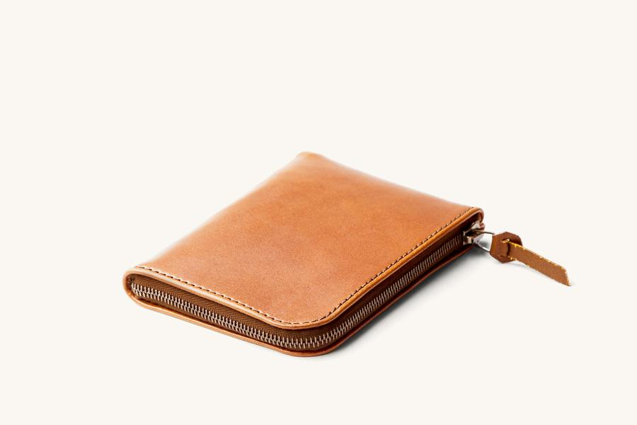 Saddle Tan Universal Zip Wallet