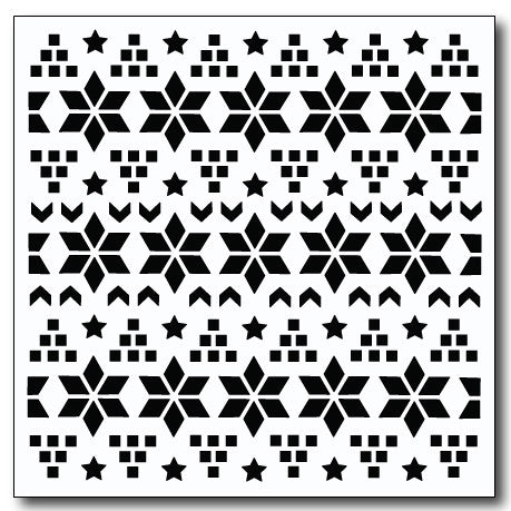 Christmas Quilt Stencil
