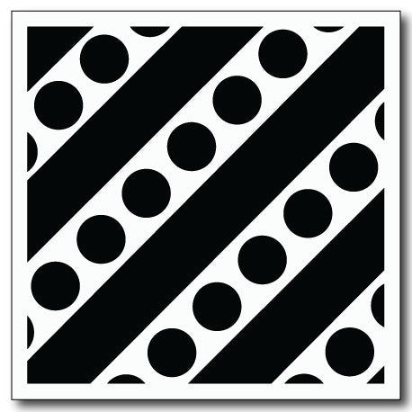 Stripes and Dots Stencil