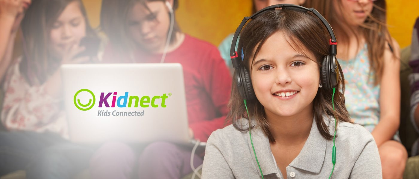 Kidnect earphone, headphones, and tech gear for kids to watch movies, play games, and traveling.
