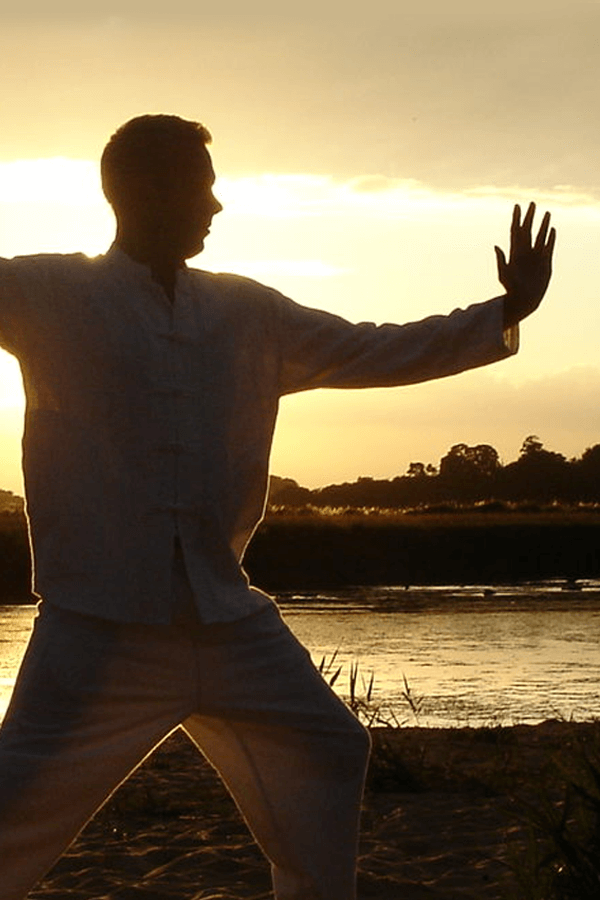 Man practicing Qigong